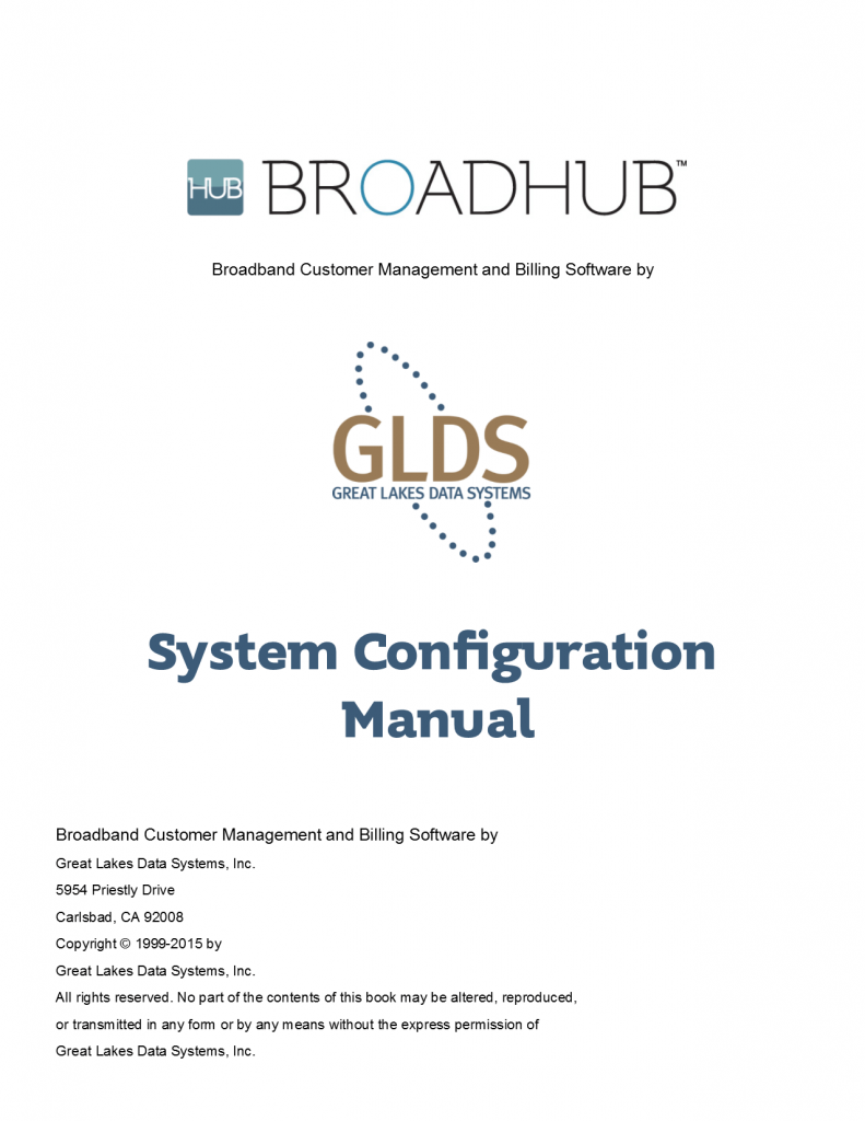 BroadHub System Configuration Manual