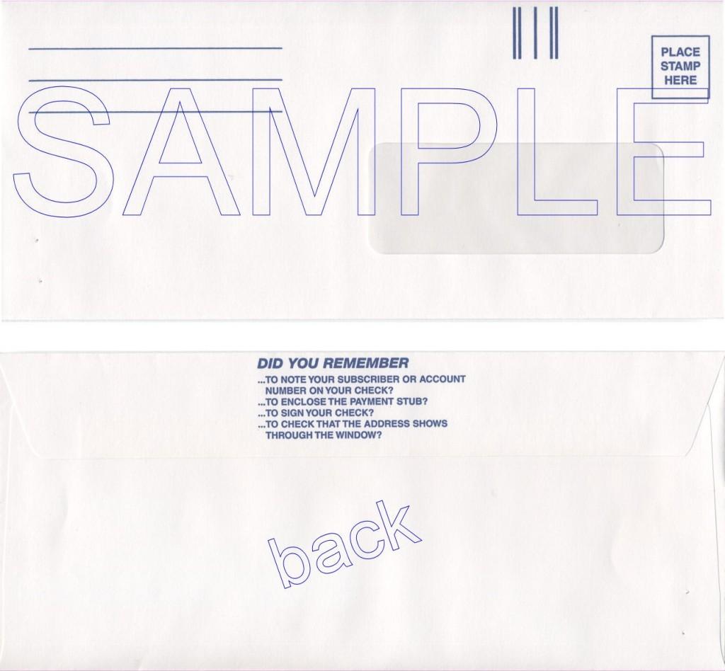 WinCable Return Envelopes