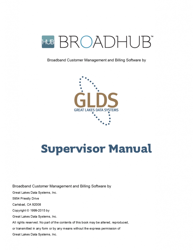BroadHub Supervisor Manual