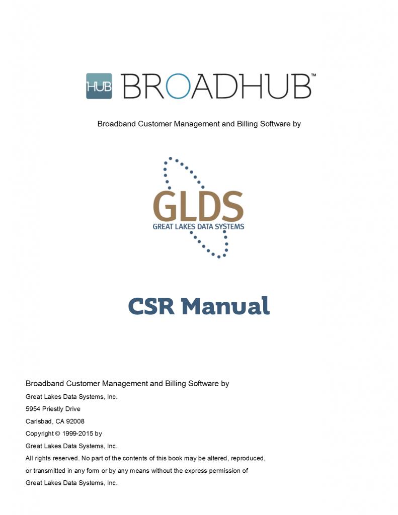 BroadHub CSR Manual